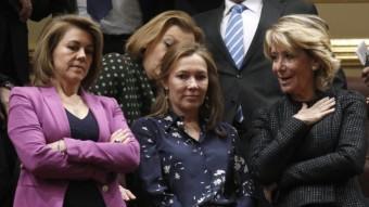 Elvira Fernández, dona de Rajoy, seguia el debat d'investidura entre De Cospedal i Esperanza Aguirre a la tribuna del Congrés ANDREA COMAS / REUTERS