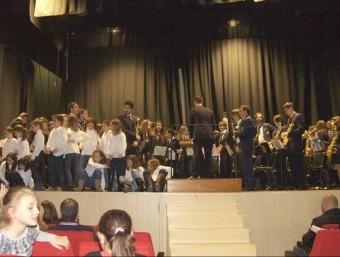 Aspecte del remat del concert de Nadal oferit per la Societat Musical. CEDIDA