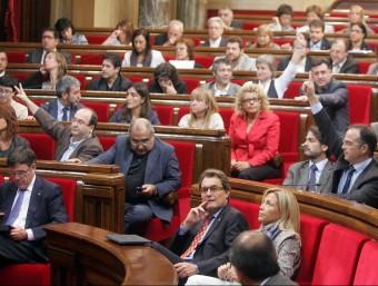 El Parlament català és plural perquè hi ha diverses opcions ideològiques.  ARXIU /JUANMA RAMOS