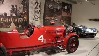 El Lagonda M45R (1935) i el Jaguar D (1957), vencedors a Le Mans. JOAN DALMAU