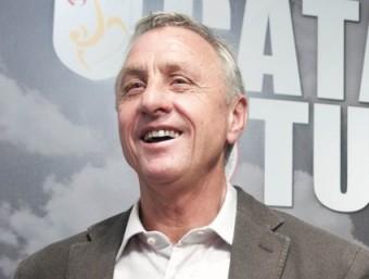 Cruyff , amb la samarreta de la selecció, l'any passat J.L