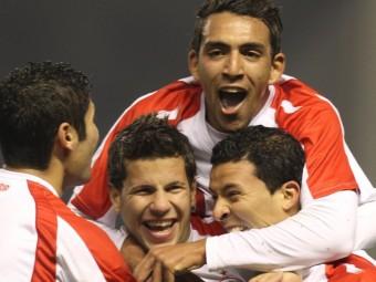 Els jugadors tunisians celebren un dels gols en el triomf davant Euskadi EFE