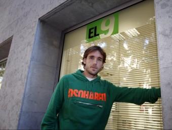 Joan Verdú, a la redacció d'El 9 Esportiu ORIOL DURAN