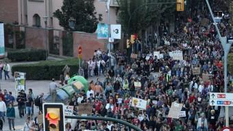 Manifestació d'indignats a Girona, l'octubre passat. JOAN SABATER