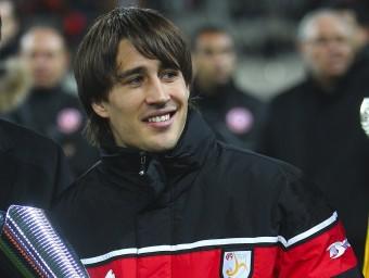Bojan Krkic va rebre el premi al millor jugador del partit MARTA PÉREZ