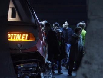 Xoc entre un Talgo i un tren de Rodalies, el gener passat, entreEl Clot i Arc de Triomf ORIOL DURAN