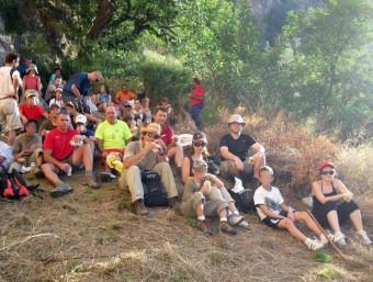 Participants en una anterior activitat realitzada pel Grup. EL PUNT AVUI