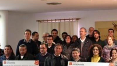 Part dels regidors i regidores de Compromís per la Ribera. EL PUNT AVUI