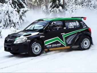 L'Skoda Fabia de Hayden Paddon, en uns tests a Noruega. HONZA FRONEK