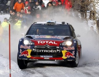 Mikko Hirvonen en un tram de l'etapa d'ahir en la qual va cedir sis segons més al líder. CITROËN RACING
