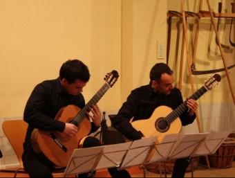 Concert de guitarra clàssica a l'andana del Museu Josep Ferrís. EL PUNT AVUI