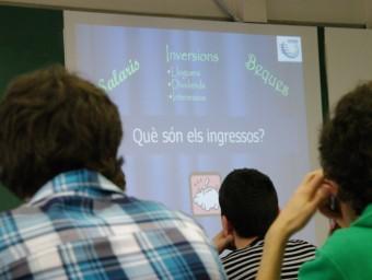 Alumnes de l'escola Betània Patmos, en la sessió de l'IEF  ARXIU