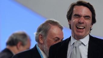 En primer terme, José María Aznar, president de la FAES REUTERS