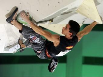 Ramon Julian, actual campió del món d'escalada a Barcelona. EL 9