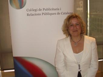 Montse Grau, a la seu del Col·legi de Publicistes i Relacions Públiques de Catalunya  ARXIU
