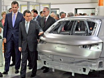 Inauguració de la fabricació a Martorell del model Q3 d'Audi, empresa amb seu a Baviera.  JUANMA RAMOS