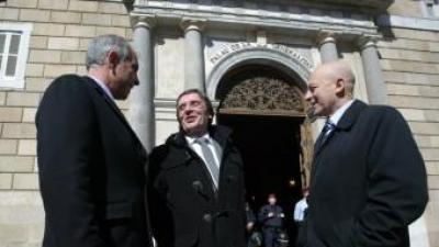 Pierre Bataille, Jean-Louis Demelin i Jordi Vera al Palau de la Generalitat QUIM PUIG