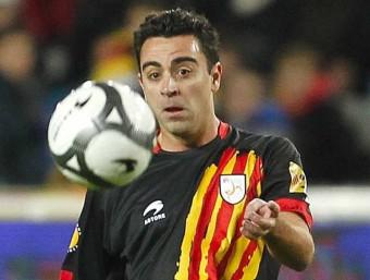 Xavi fa una assistència, en el duel contra Tunísia M. PÉREZ