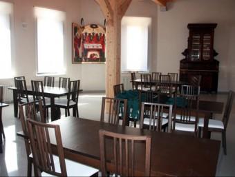 El menjador de l'hostatgeria, que obre avui als visitants, i ja amb demanda, després de cinc anys d'obres O.BOSCH / ACN