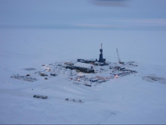 Vista aèria d'una explotació de gas natural no convencional a l'estat d'Alaska, als EUA  ARXIU