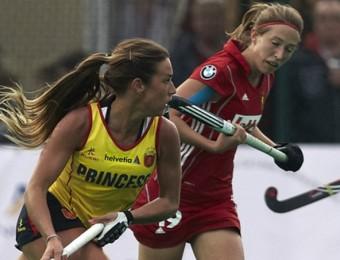 Una jugada d'un partit de la selecció espanyola en el torneig preolímpic. AITOR ALCALDE