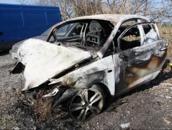 El vehicle de l'home que va morir dissabte en un accident a Sant Feliu de Buixalleu ACN