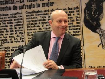 El ministre Wert en una seua compareixença a la comissió de Cultura del Senat. EL PUNT AVUI