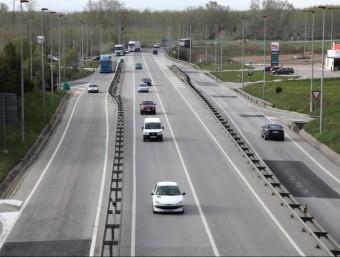 L'enllaç de l'N-II amb la C-35 i l'autopista entreVidreres i Maçanet, ahir des del pont de la C-35. JOAN SABATER