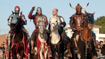 Alguns dels cavallers que seran a la Rambla. ARXIU