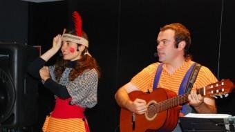 Els Xancletes, un dels grups d¡animació infantil que actuaran avui a la rambla en el marc de la festa de la Iaeden.