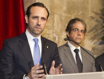 El president balear, José Ramón Bauzá, durant la presentació del pla, aquest dilluns a Palma EFE