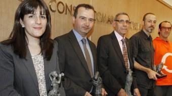 L'entrega dels premis Empordà va tenir lloc ahir a la seu del Consell Comarcal a Figueres emmarcada en els actes del Dia de la Comarca LLUÍS SERRAT