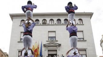 La diada castellera de Figueres. LLUÍS SERRAT