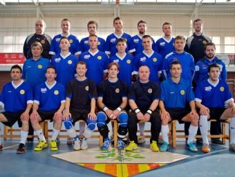 La selecció catalana , fotografiada abans de l'europeu EL 9