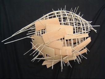 Una de les peces que Tintoré va exposar el 2003 al Museu d'Art de Girona.  EL PUNT AVUI