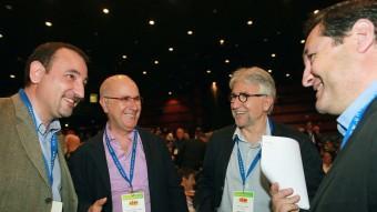 Espadaler, Duran, Josep Sánchez-Llibre i Josep Maria Pelegrí, en el congrés d'Unió al maig ARXIU