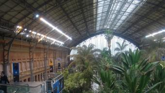 La idea de Cerdà era enllaçar amb el tren diversos llocs de Madrid amb l'estació d'Atocha.  ARXIU