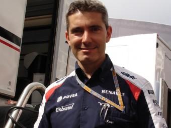 Pujolar al Circuit de Catalunya , després del triomf de Maldonado JOSEP CASANOVAS