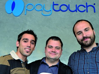 Sergi Almar, Javier Peso i Germán Ruiz, tres dels socis de Paytouch  X.A