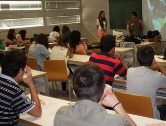 Aspecte de l'aula on s'hi desenvolupa el curs de formació. K. FONOLLOSA