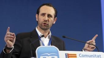 Bauzá s'adreça a l'assemblea del Congrés del PP valencià. J. CUÉLLAR
