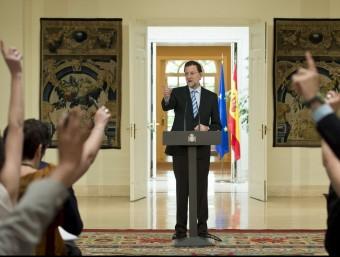Roda de premsa del president del govern espanyol Mariano Rajoy per explicar el rescat financer  AFP