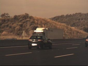 La imatge captada per un radar del Seat Ibiza del ciutadà francès denunciat COS DE MOSSOS D'ESQUADRA (CME)