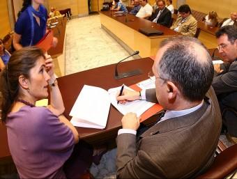 La signatura del conveni es va fer ahir a la Diputació de Girona, amb la presència dels diferents representants. LLUÍS SERRAT