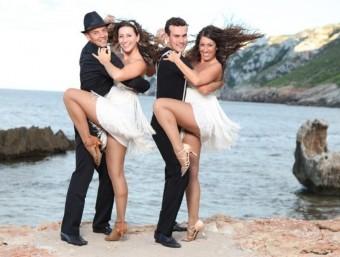 """Dues parelles de ball de l'associació """"Units pel ball"""". CEDIDA"""