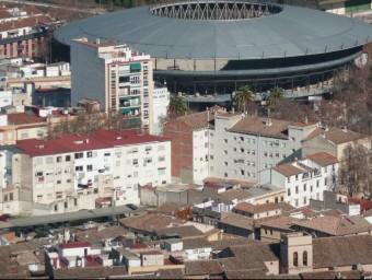 Vista aèria parcial de la vila de Xàtiva a la comarca de la Costera. EL PUNT AVUI
