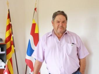 Josep Puig , al despatx de l'ajuntament . J. PUNTÍ