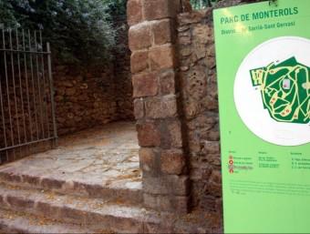 Entrada al Parc de Monterols , al districte de Sarrià, on dilluns va morir un jove ACN