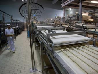 La planta de producció de la línia Gran Reserva, a la fàbrica que l'empresa té a Vallmoll  JOSÉ CARLOS LEÓN