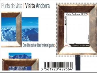 Una mostra del segell buit emès pel Principat d'Andorra.